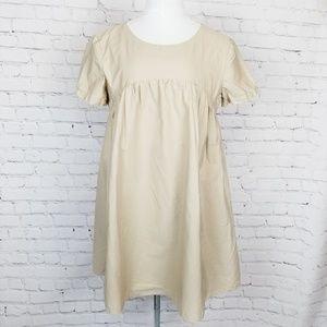 Amanda Uprichard|Beige Babydoll Dress